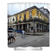 Life In Old Town Havana Shower Curtain