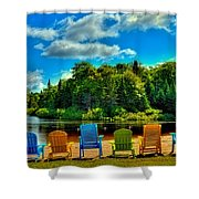 Life In The Adirondack Mountains Shower Curtain