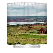 Life In Wyoming Shower Curtain