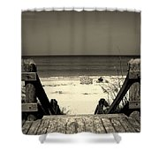 Life Is A Beach Shower Curtain by Susanne Van Hulst