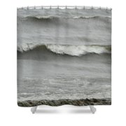 Life Is Like A Wave Shower Curtain