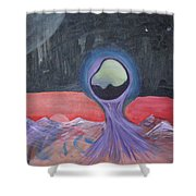 Life On Another Planet I Shower Curtain
