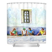 Life On Culatra Island Shower Curtain