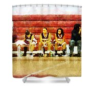 Life On The Bench Shower Curtain
