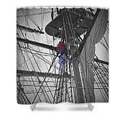Life On The Ropes Shower Curtain