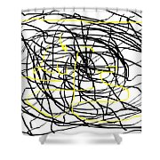 Life. White And Black Life Period But Sunlight Forever. Shower Curtain