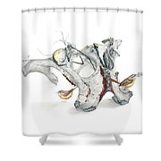 Life With Carolina Wrens Shower Curtain