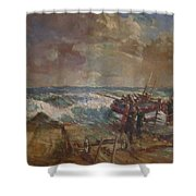Lifeboat Launch Shower Curtain