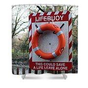Lifebuoy Theft Shower Curtain