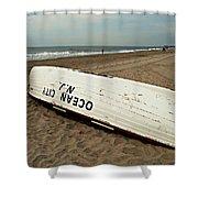 Lifeguard Boat Ocean City, Nj Shower Curtain