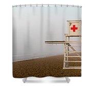 Lifeguard Chair Shower Curtain