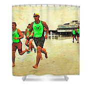 Lifeguard Runners Shower Curtain
