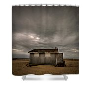 Lifeguard Shack Shower Curtain by Evelina Kremsdorf