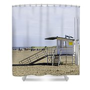 Lifeguard Station At Skegness Shower Curtain