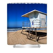 Lifeguard Tower Photo Shower Curtain
