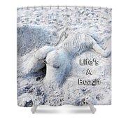 Life's A Beach By Sharon Cummings Shower Curtain