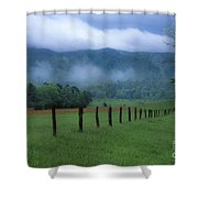 Lifting Fog In Cades Cove Shower Curtain