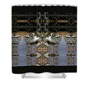 Lifting Up My Golden Eyes In Prayer Shower Curtain