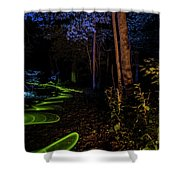 Lighit Painted Forest Scene Shower Curtain