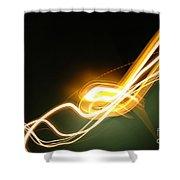 Light 3 Shower Curtain