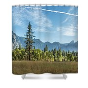 Light Across The Valley Shower Curtain