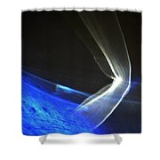 ''light And Blue Disc No.103'', Thu--17sep2015 Shower Curtain