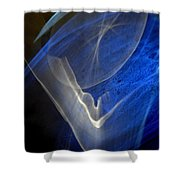 ''light And Blue Disc No.107'', Thu--17sep2015 Shower Curtain