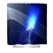 ''light And Blue Disc No.119'', Fri--18sep2015 Shower Curtain