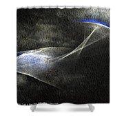 ''light And Blue Disc No.36'', Thu--10sep2015 Shower Curtain
