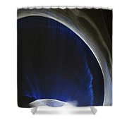 ''light And Blue Disc No.41'', Fri--23oct2015 Shower Curtain