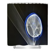 ''light And Blue Disc No.48'', Fri--23oct2015 Shower Curtain