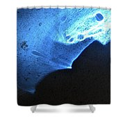 ''light And Blue Disc No.76'', Fri--23oct2015 Shower Curtain