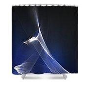 ''light And Blue Disc No.90'', Thu--17sep2015 Shower Curtain