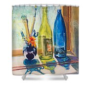 Light And Bottles Shower Curtain