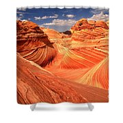 Light And Dark At The Wave Shower Curtain