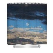 Light And Dark Moon  Shower Curtain
