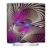 Light And Lines Shower Curtain
