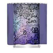 Light And Love Shower Curtain