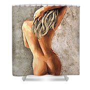 Light And Nudity Shower Curtain