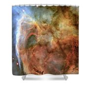 Light And Shadow In The Carina Nebula Shower Curtain