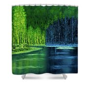 Light And Shadow Shower Curtain