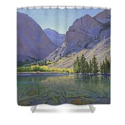 Light At Parker Lake Shower Curtain