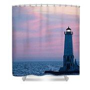 Light At Sunset Shower Curtain