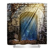 Light At The Blue Door Shower Curtain