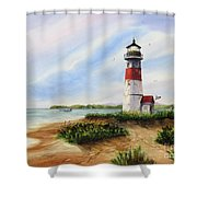 Light At The Inlet Shower Curtain
