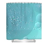 Light Blue Abstract Of Oil Droplet.  Shower Curtain