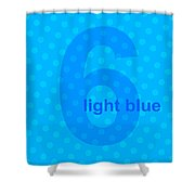 Light Blue Angel Shower Curtain