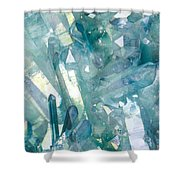Light Blue Crystals Shower Curtain