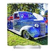Light Blue Pickup  Shower Curtain