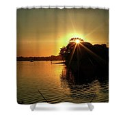 Light Break Through At Sundown Shower Curtain